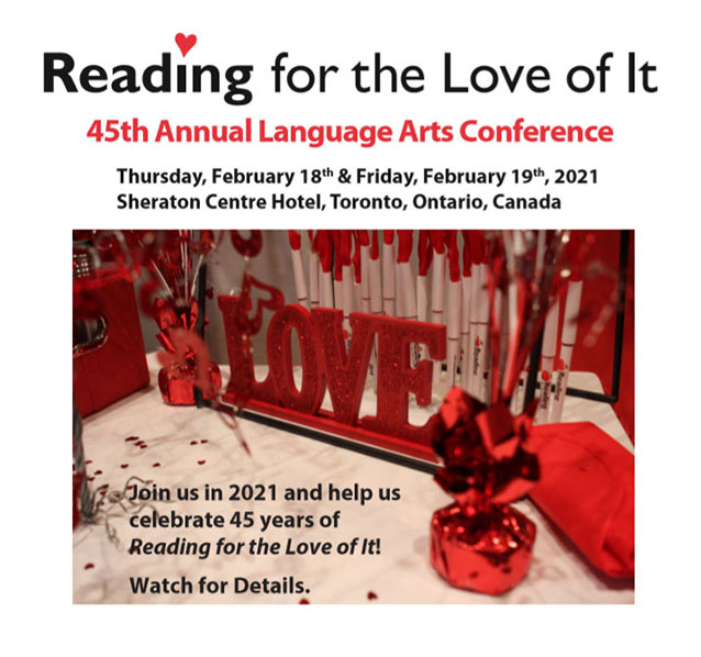 Reading For The Love of It - 2019 Annual Language Arts Conference